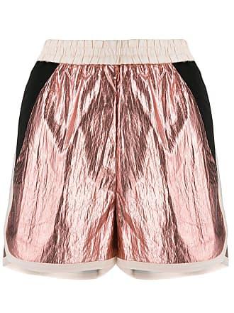 8pm metallic track shorts - Pink