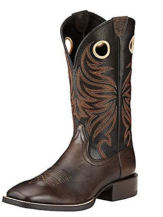 c71f1ead428 Ariat Mens Sport Rider Wide Square Toe Western Boot Chocolate Size 10  B Narrow Us