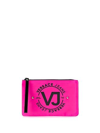 Versace Jeans Couture Necessaire com logo - Rosa