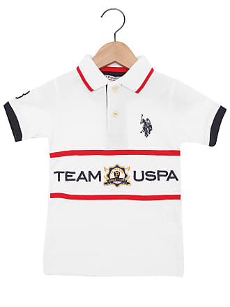 U.S.Polo Association Camisa Polo U.S. Polo Team USPA Branca