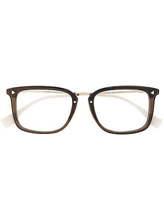 Fendi Armação de óculos quadrada - Marrom