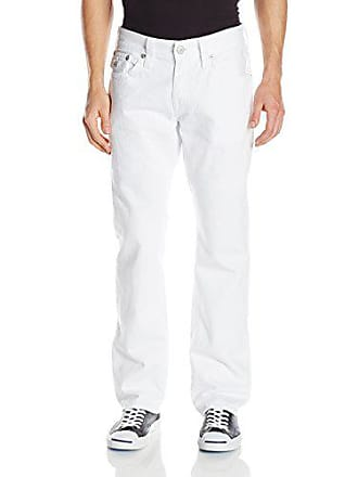 True Religion Mens Ricky with Flap Pocket Jean In Optic White, Optic White, 30x34