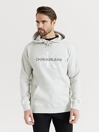 Calvin Klein Jeans Hoodie Monogram Regular Grå