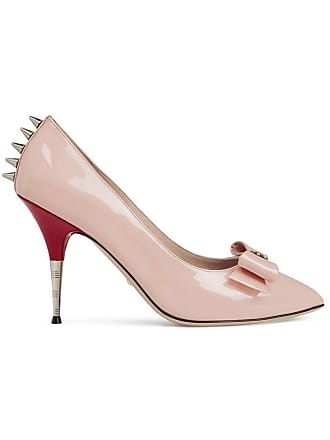 76822db72 Gucci Patent leather pump with bow - Pink