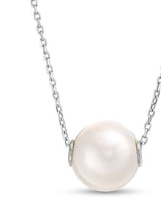 fc16888c5 Zales Imperial 9.0 - 10.0mm Cultured Freshwater Pearl Threaded Necklace in  Sterling Silver - 20