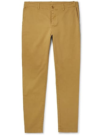 Ymc You Must Create Slim-fit Tapered Cotton-blend Twill Trousers - Beige