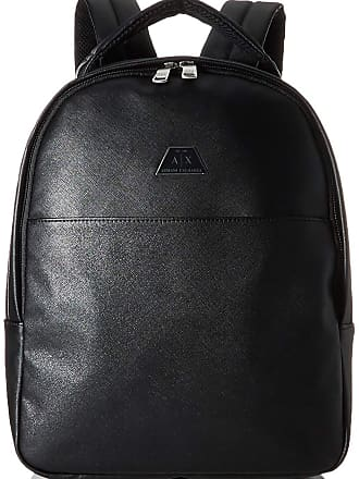 A X Armani Exchange AX Armani Exchange Mens Allover Classic Print Backpack, Black, One Size (pack of 2)