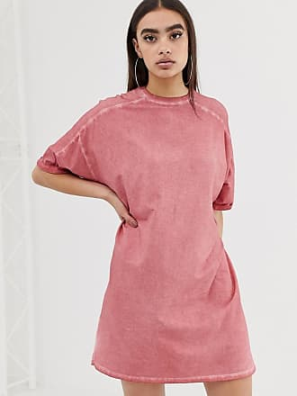 2c1bd65e216 Asos t-shirt dress with rolled sleeves and wash