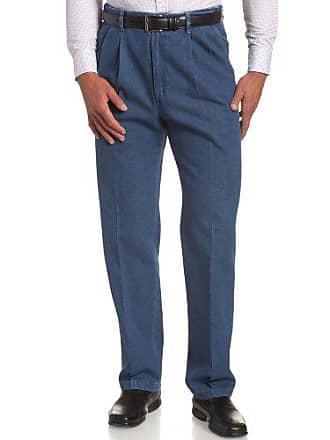 Haggar Mens Big,Tall Hidden Expandable Waistband Denim Pleat Front Pant,LIGHT STONE,58x32