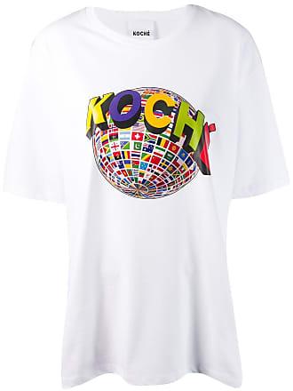 Koché Camiseta com estampa - Branco
