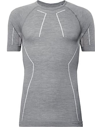 Falke Ergonomic Sport System Stretch Virgin Merino Wool-blend Base Layer T-shirt - Gray