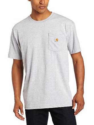 Carhartt Work in Progress Mens Contractors Work Pocket Short Sleeve T-Shirt Relaxed Fit,Heather Grey (Closeout),Large