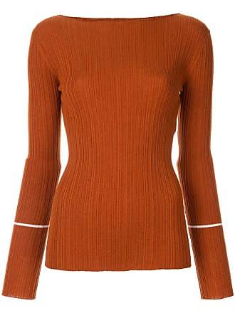 Nina Ricci Camisa de tricô canelada - Marrom
