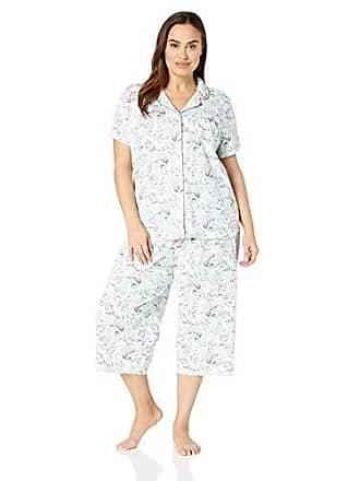 Karen Neuburger Womens Plus Size Short-Sleeve Girlfriend Crop Pajama Set  PJ 3a395090c0a74
