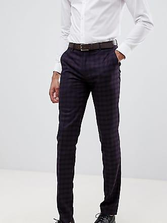 f8cec8279ef622 Farah Farah Hurstleigh skinny fit check suit pants in burgundy - Red