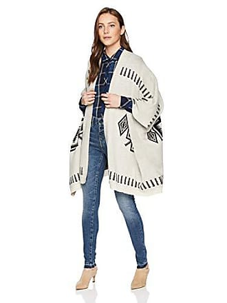 Chaser Womens Vintage Trading Blanket Sweater Drape Front Open Cardigan, Natural, M/L