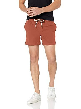 Goodthreads Mens 5 Inseam Pull-On Stretch Canvas Short, Rust, Small
