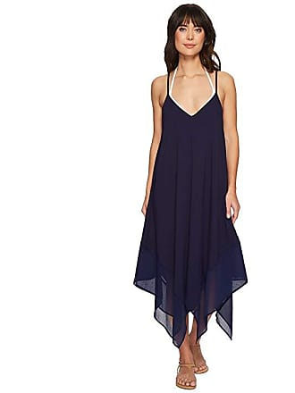 b97e84a85cf19 Tommy Bahama Cotton Modal Scarf Dress Cover-Up (Mare Navy) Womens Swimwear