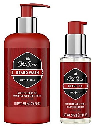 Old Spice Beard Oil + Wash for Men, Beard Care & Grooming Kit, 1.7 oz + 6.8 oz