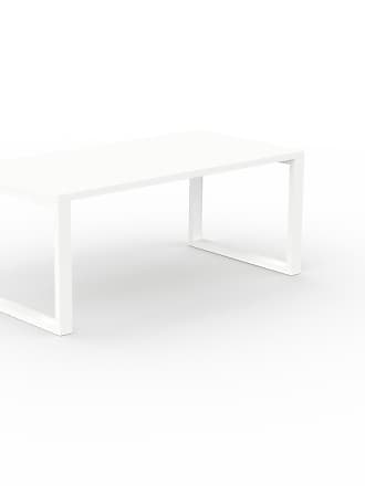 MYCS Bureau - Blanc, design contemporain, table de travail, fonctionnelle - 180 x 75 x 90 cm, modulable