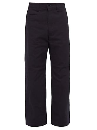 Junya Watanabe Camouflage Patch Cotton Twill Trousers - Mens - Navy
