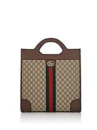 0fca50d2a51 Gucci Mens GG Supreme Tote Bag - Brown