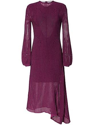 Chloé Vestido idi de seda com detalhe canelado - Roxo