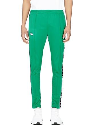 504ce306c450 Kappa 222 Banda Astoria Slim Snap Track Pants - Green Black White