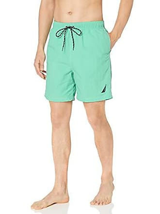 52010a38ea Nautica Mens Solid Quick Dry Classic Logo Swim Trunk, Mint Spring, X-Large