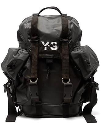 Yohji Yamamoto Xs Utility Logo Print Backpack - Mens - Black