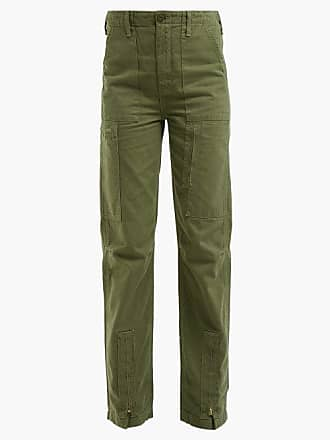 Re/Done Re/done Originals - High Rise Cargo Trousers - Womens - Khaki