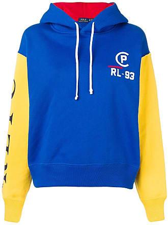 Polo Ralph Lauren sweat à capuche à manches contrastantes - Bleu 962f45fa57f7