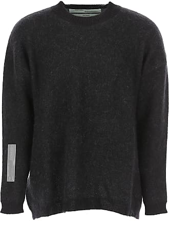 Off-white Sweater for Men Jumper On Sale, Black, Mohair, 2017, M S XS
