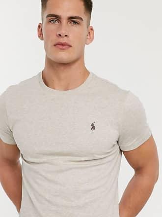 Polo Ralph Lauren T-shirt beige mélange con logo-Cuoio