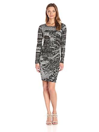 c8a5e6623bfce Desigual Womens Vest_rosaura Knee-Length key A-Line Long Sleeve Dress, Black  (