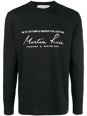 Martine Rose Black Classic Logo Long Sleeve T-shirt - The Webster