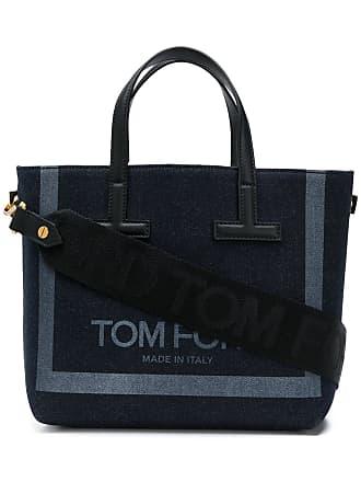 db5c1766f35c Tom Ford logo print denim tote - Blue