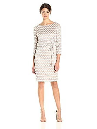8c6c0f582d64 Jessica Howard Womens 3/4 Sleeve Blouson Dress with Tie Belt, Taupe 6