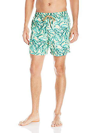 1dd23a08f6686 Maaji Mens Printed Elastic Waist Mid Length Swimsuit Trunks 5 Inseam, Pink  Lemonade Multi,