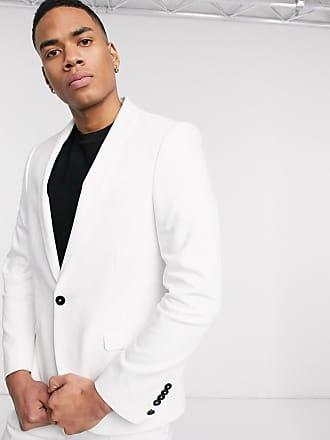 Twisted Tailor Giacca da abito da matrimonio super skinny bianca-Bianco
