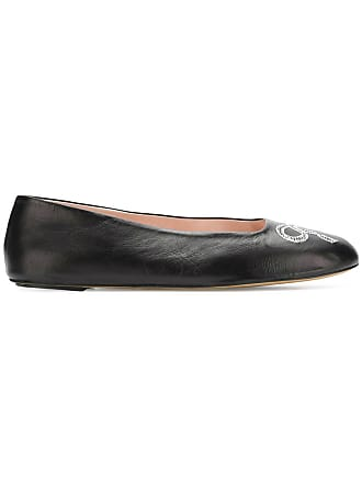 4324aa8371eb Bally bow embroidered ballerina shoes - Black