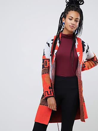 Esprit Cardigan rosso con stampa azteca - Rosso 1aca019eba9