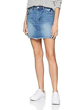4107926a0c Pimkie Jupe en jean courte bleu bas effilochée Femme - Taille 36