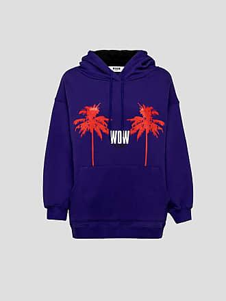 Msgm hooded sweatshirt with wow print