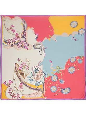 2526230bbd9a Etro Foulard En Mousseline De Soie À Imprimé Fleuri - Rouge
