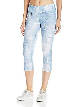 2eeff4c3ab617 Desigual Womens Womens Sport Capri Tight with Mesh Denim Luxury, Jeans, M