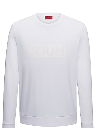 9128116ee HUGO BOSS Regular-fit interlock cotton sweatshirt with reverse logo