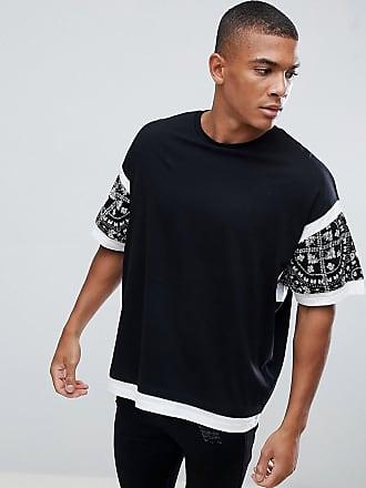 Asos oversize t-shirt med färgblock och paisley-mönster - Svart 0288eea3f98f4