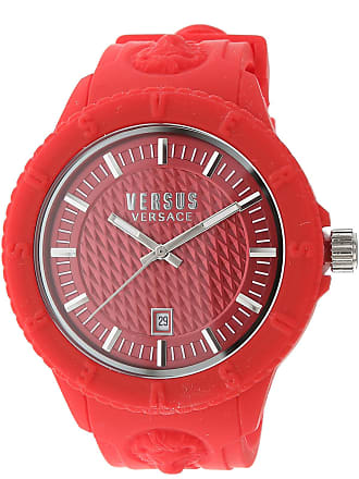 Versace Watch for Women On Sale, Red, Rubber, 2017, One Size