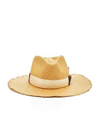 Nick Fouquet Melisande Grosgrain-Trimmed Straw Hat